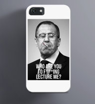 Чехол на iPhone с Лавровым Who are you to Fuking lecture Me