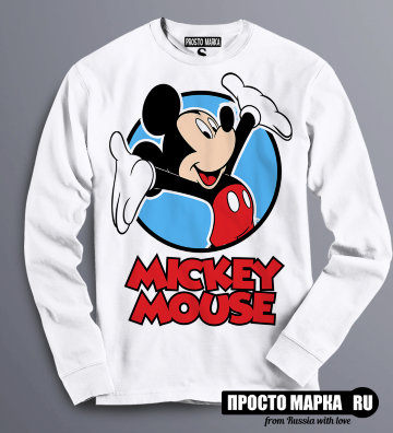 Толстовка Свитшот Mickey Mouse Hands Up!
