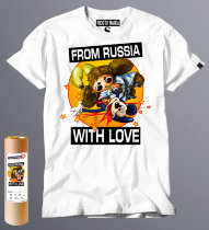 Футболка с надписью From Russia with love чебурашка