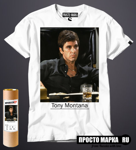 Футболка Tony Montana colour photo