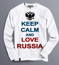Толстовка Свитшот keep kalm love Russia