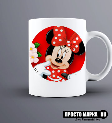 Кружка Minnie with a red bow