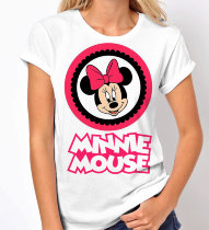 Женская Футболка Minnie Mouse/Pink bow