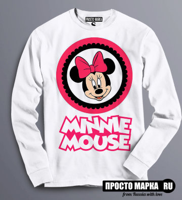 Толстовка Свитшот Minnie Mouse/Pink bow
