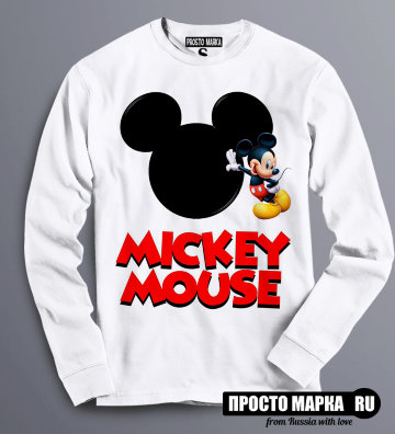 Толстовка Свитшот Mickey Mouse-Face