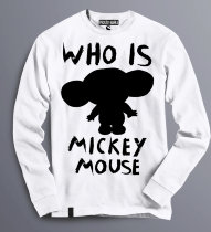 Толстовка (свитшот) Who is Mickey Mouse