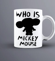 Кружка Who is Mickey Mouse