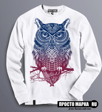 Толстовка Свитшот с Совой Purple Owl