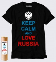Футболка футболка keep calm and love russia Black