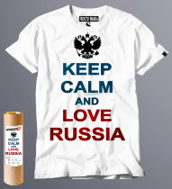 Футболка футболка keep calm and love russia